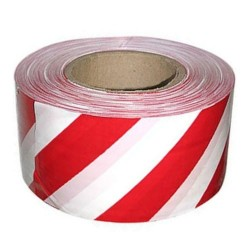 Лента оградительная бело-красная 50*200